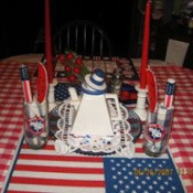 Red white and blue table decorations