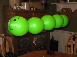 green balloon caterpillar