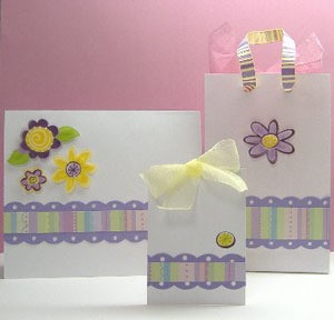 Card, tag, and gift bag.
