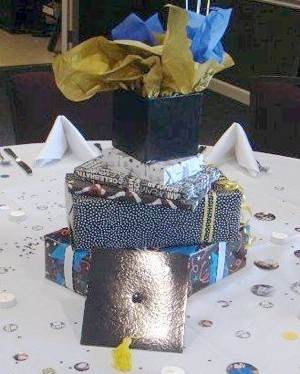 Wrapped package centerpiece.