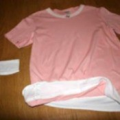 pink blouse with white layer