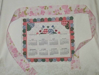 calendar tea towel apron