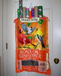 Recycled Wrapping Paper Organizer