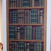 Wall decor, wallpaper bookcase.