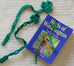 Shamrock book marks with a Birds of Washington book.