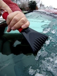 scraping ice on windshield