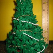 Pipe cleaner tree.