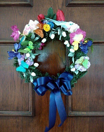 silk flower wreath