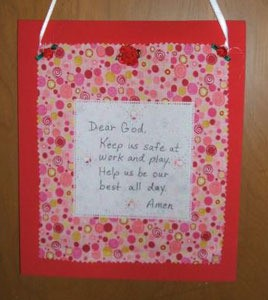 Prayer Wall Hanging
