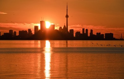 Sunrise over Toronto.