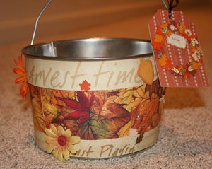 Decorated pail