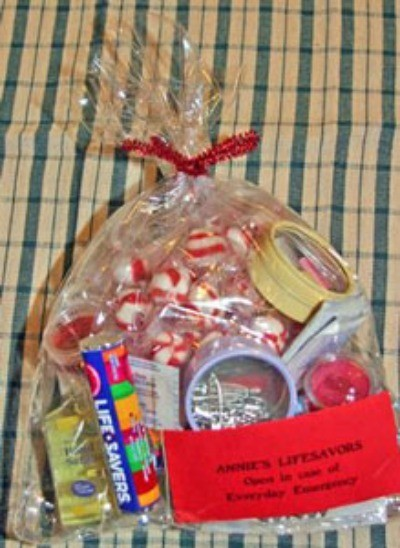 filled gift bag