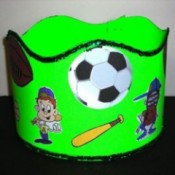 Green crown with sports clip art.