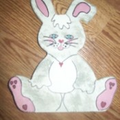 Painted wooden bunny.