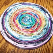 coiled folded paper trivet