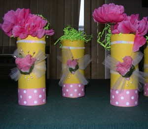 Frugal Party Vases