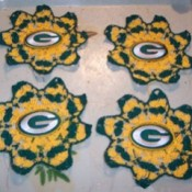 Green Bay Packers coasters.