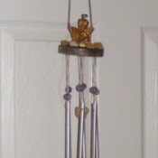 Angel Windchime made with recycled materials