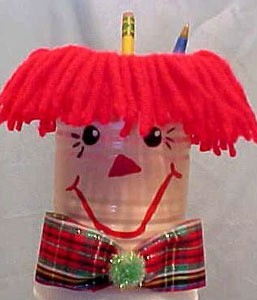 Raggedy Andy pencil holder.