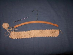 Hanger, hook, and crochet.