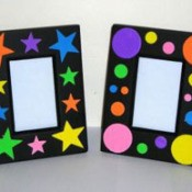 frames decorated with foam shapes