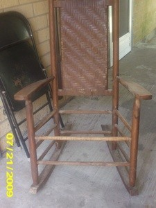 Old rocking chair.