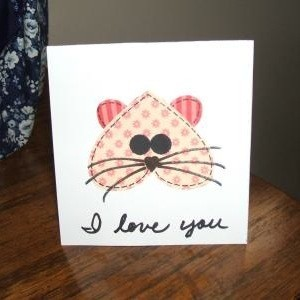 Kitty Valentine Card