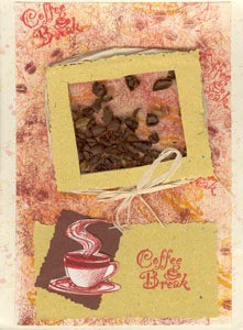 Coffee shaker card.