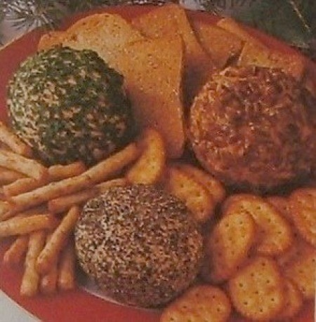cheese balls with crackers