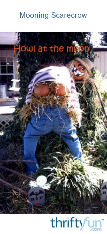 Build Your Own Garage >> Craft: Mooning Scarecrow | ThriftyFun