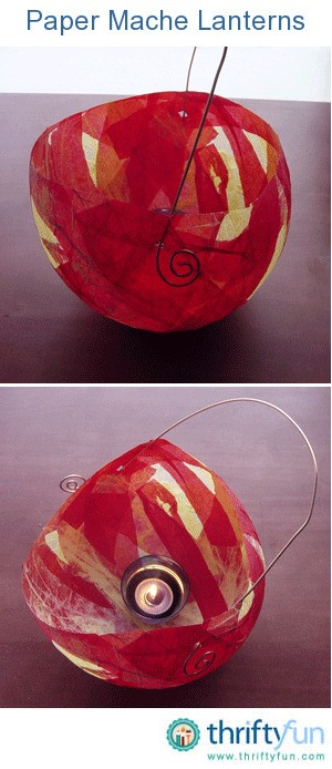 Paper mache lanterns thriftyfun for Papier mache lanterns