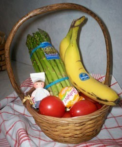 basket of fresh food
