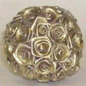 Gold Rose Ornament