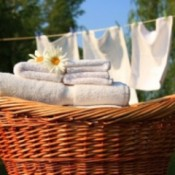 A basket of line dried laundry