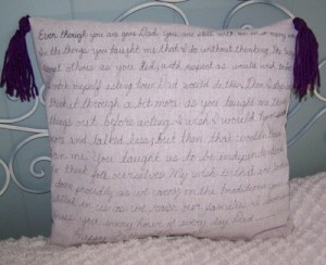 DIY Message Pillow
