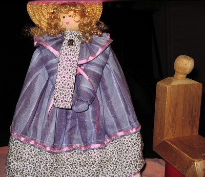 simple wood doll, finished