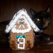 cute crochet gingerbread house