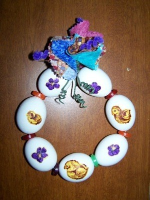 Easter egg wreath.