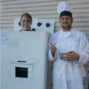Oven and baker costumes.