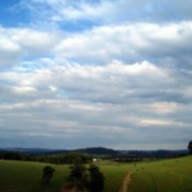 Farmland with big sky.