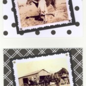 Sepia photo note cards.