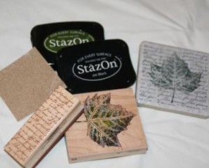 Stamped Tile Coasters - Supplies
