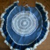 Denim Toilet Seat and Tank Covers - Toilet seat cover made from denim.