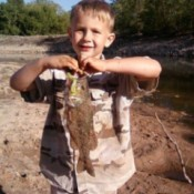 Dakota With His First Bass