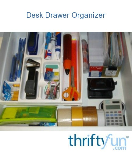 Use cutlery tray for desk drawer organizer thriftyfun - Desk drawer organizer trays ...