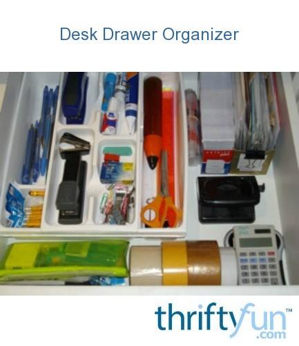 Use cutlery tray for desk drawer organizer thriftyfun - Desk drawer organizer trays ...
