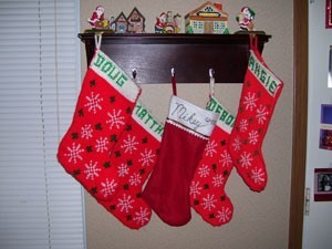 Five stockings.