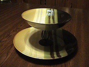 homemade two tier serving platter