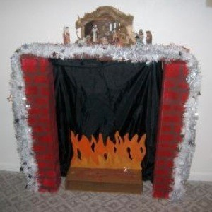 decorative Christmas fireplace