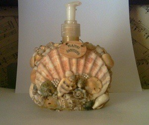 Sea shell soap dispenser.